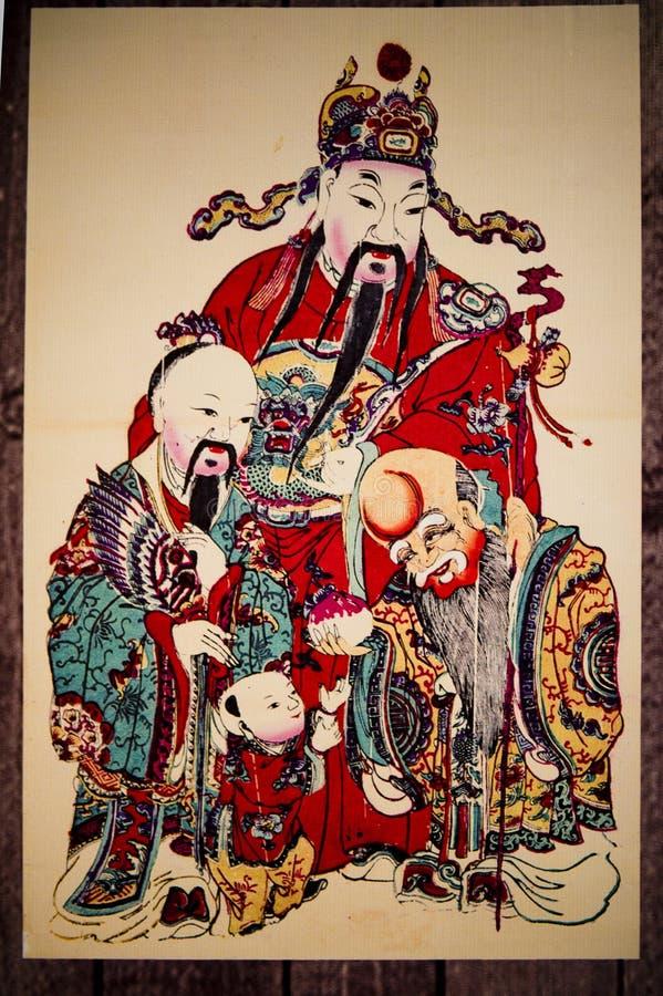Peintures chinoises d'an neuf illustration de vecteur