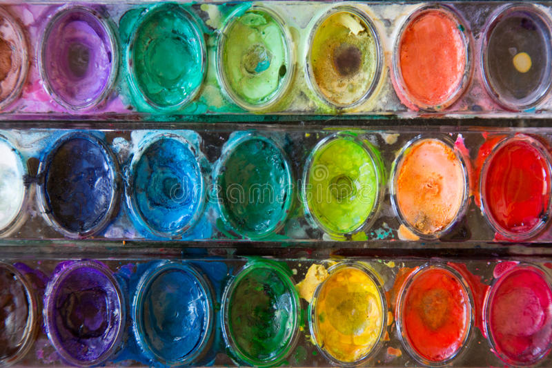 Peintures d'aquarelle images stock
