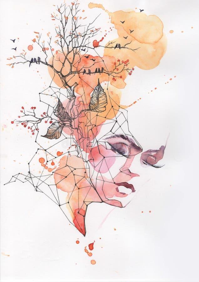 Peintures d'automne illustration stock