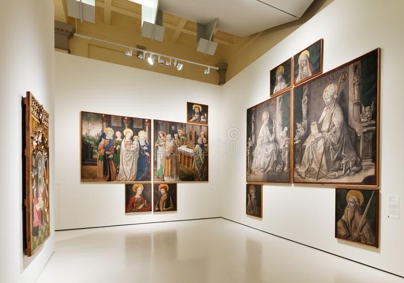 Peintures dans le hall gothique médiéval d'art de style image libre de droits