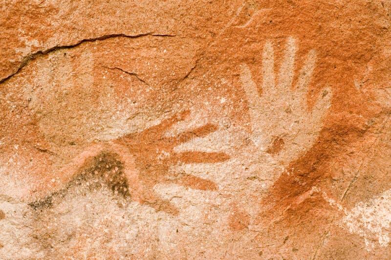 Peintures de caverne en Argentine photo libre de droits