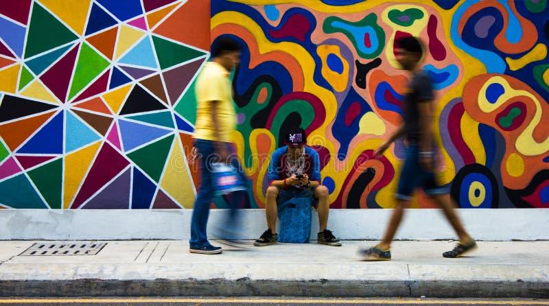 Peintures de rue photographie stock libre de droits