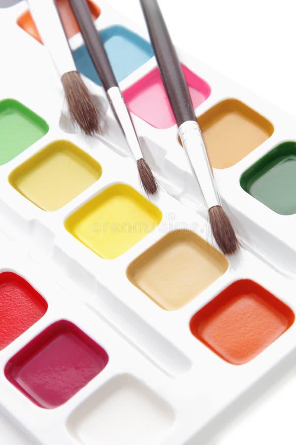 Peintures et balais images libres de droits