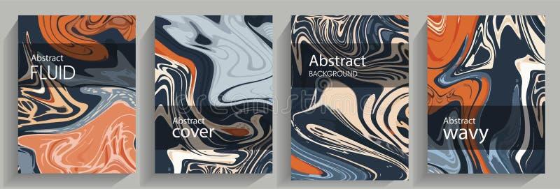 Peintures liquides abstraites illustration stock