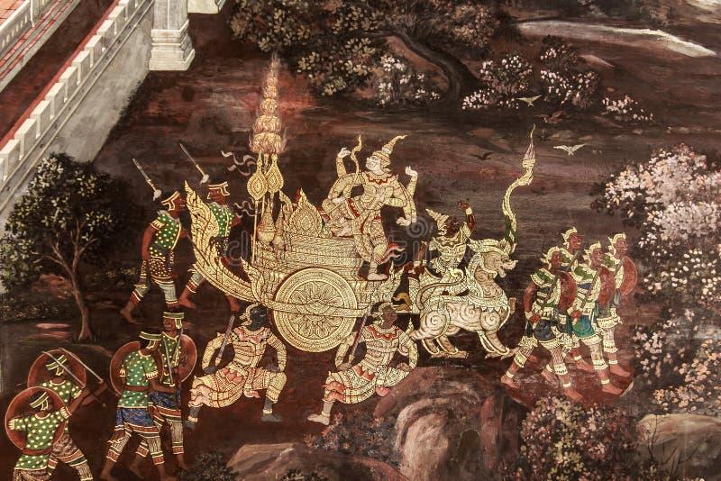 Peintures murales de Ramayana image stock