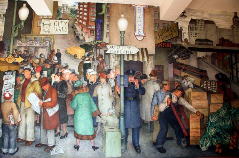 Peintures murales de tour de Coit photos stock