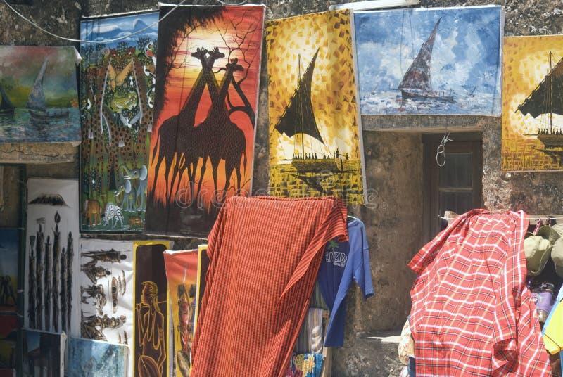 Peintures, ville en pierre, Zanzibar, Tanzanie image stock
