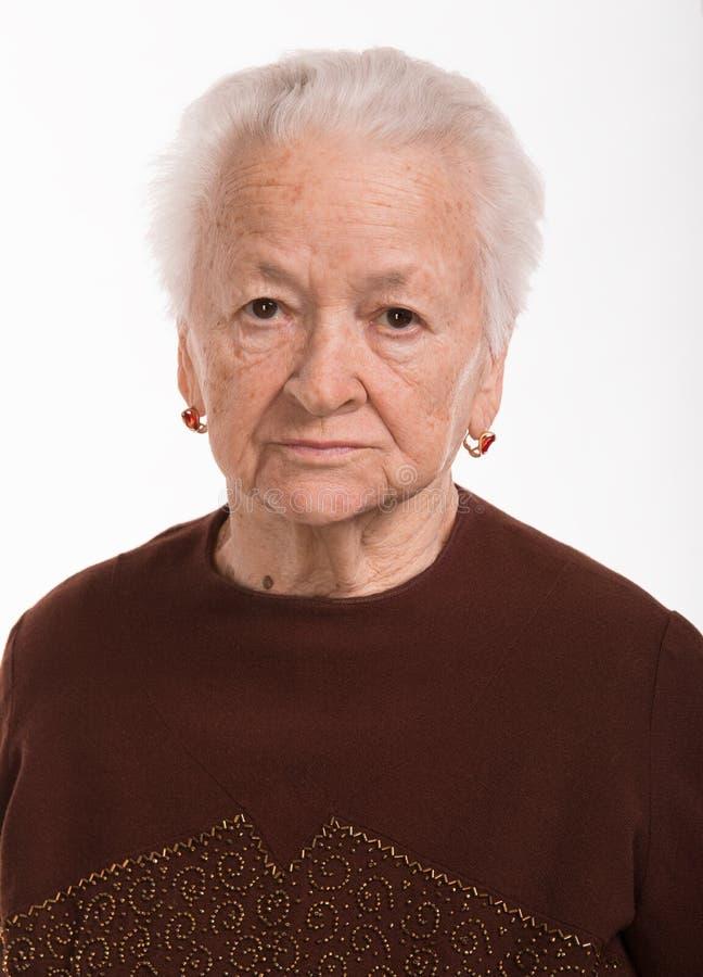 Download Peinzende oude vrouw stock afbeelding. Afbeelding bestaande uit hoofd - 29504467