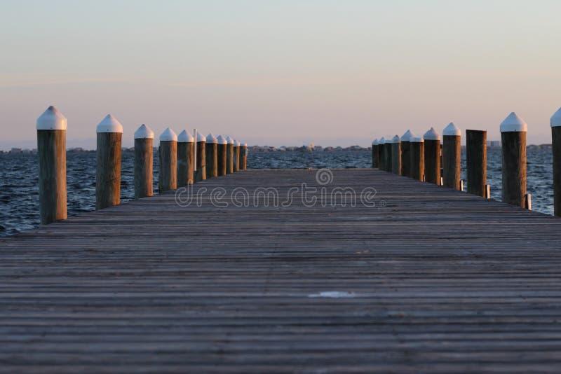 Peir-Sonnenuntergang lizenzfreie stockfotografie