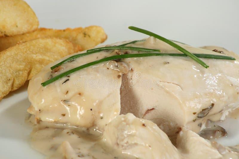 Peito de galinha com molho imagem de stock royalty free