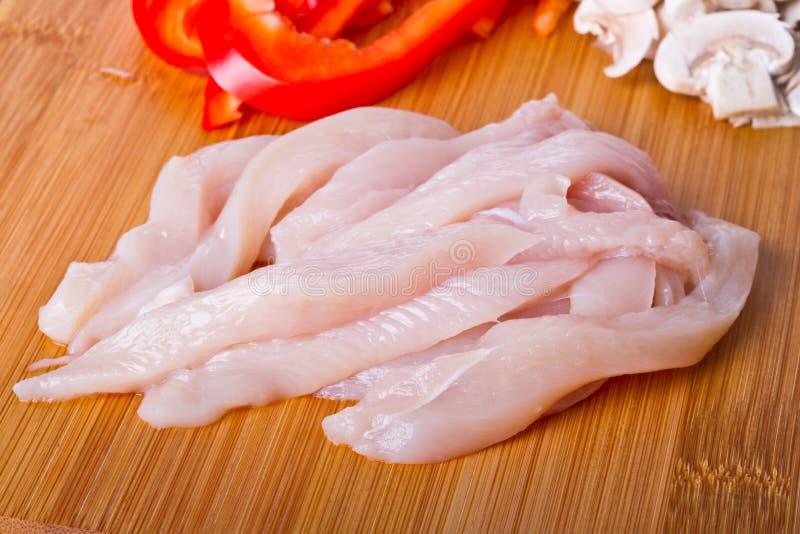 Peito de galinha cortado imagem de stock royalty free