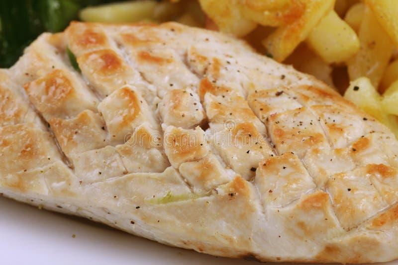 Peito de galinha fritada foto de stock royalty free