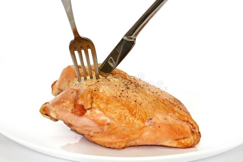 Peito de galinha fumado foto de stock