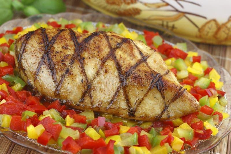 Peito de galinha grelhado fotografia de stock