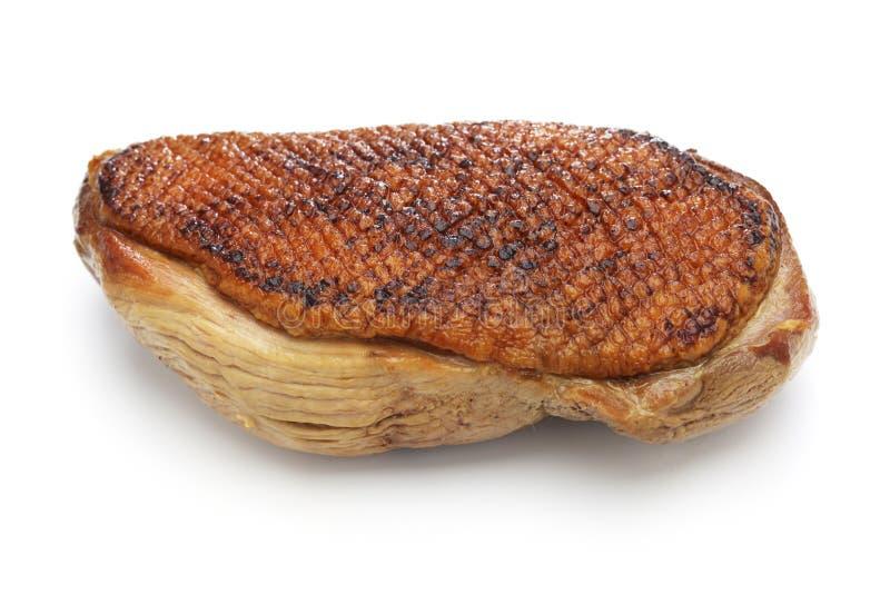 Peito de pato passado ligeiramente cozinhado, culinária japonesa imagens de stock