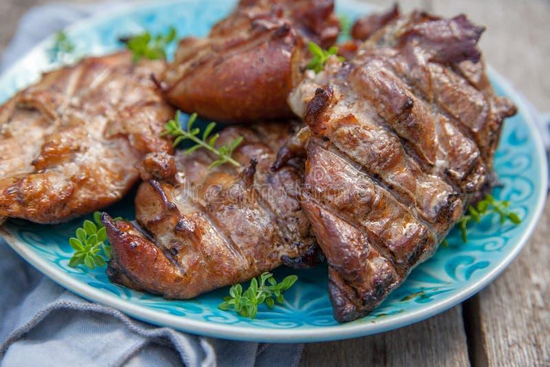 Peitos de galinha grelhados fotografia de stock
