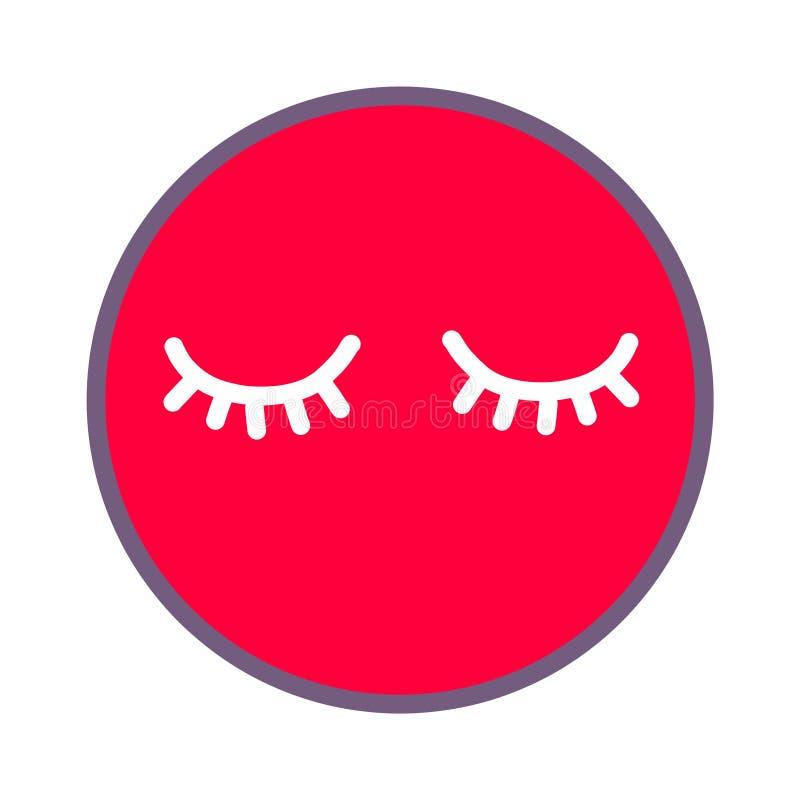Peitschenschönheitseckenhand-bildet gezogener Illustrations-Maskenschlaf Mittel-salloon Stangenstudio für Frauentendenz-Artgesich lizenzfreie abbildung