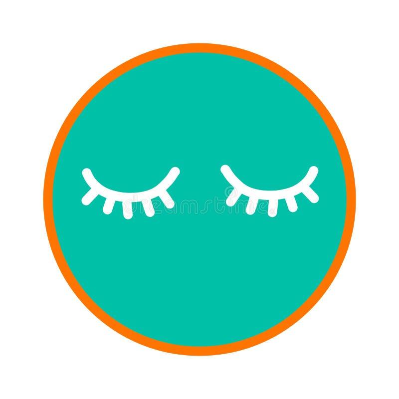 Peitschenschönheitseckenhand-bildet gezogener Illustrations-Maskenschlaf Mittel-salloon Stangenstudio für Frauentendenz-Artgesich stock abbildung