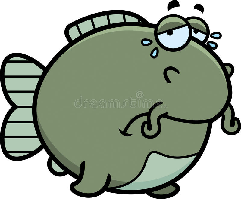 Peixe-gato de grito dos desenhos animados ilustração royalty free