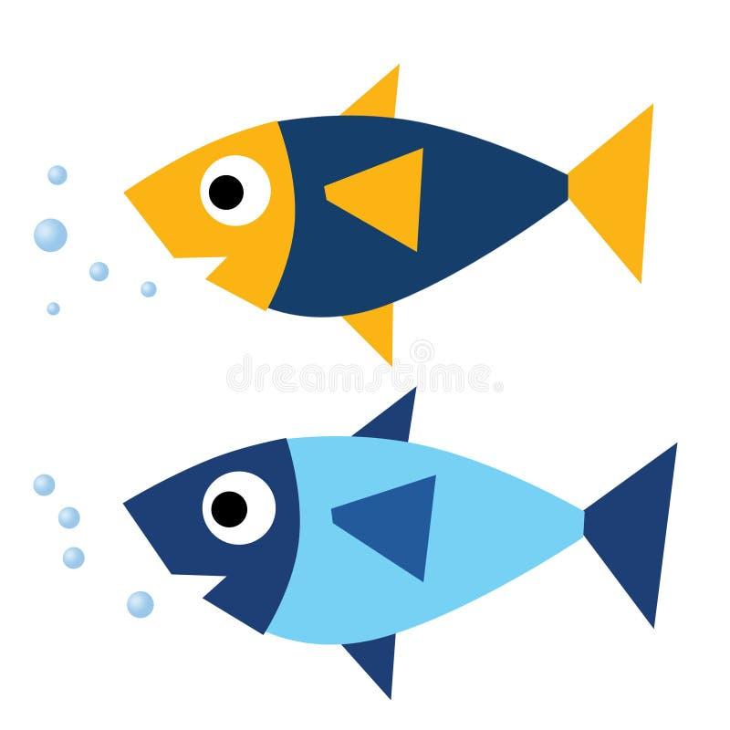 Peixes ilustração royalty free