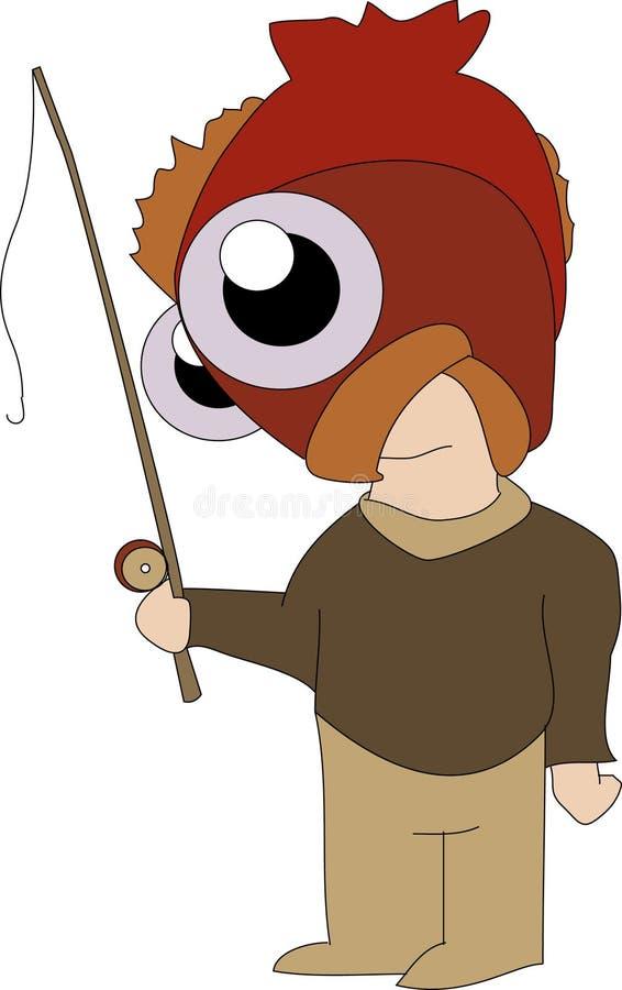 Peixes antropófagos ilustração do vetor