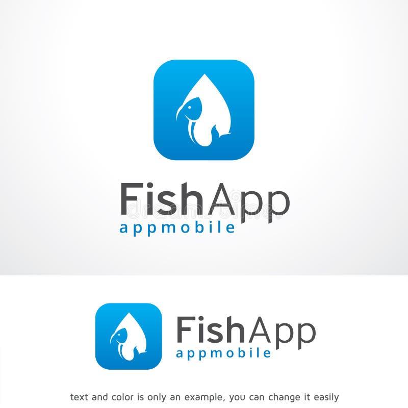 Peixes App Logo Template Design Vetora, emblema, conceito de projeto, símbolo criativo, ícone ilustração stock