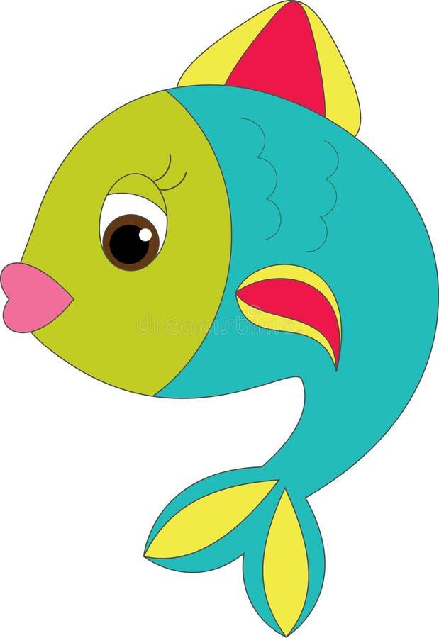 Peixes brilhantes dos desenhos animados ilustração royalty free