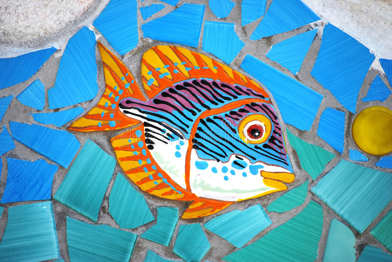 Peixes cerâmicos a costa de Amalfi, Itália foto de stock royalty free