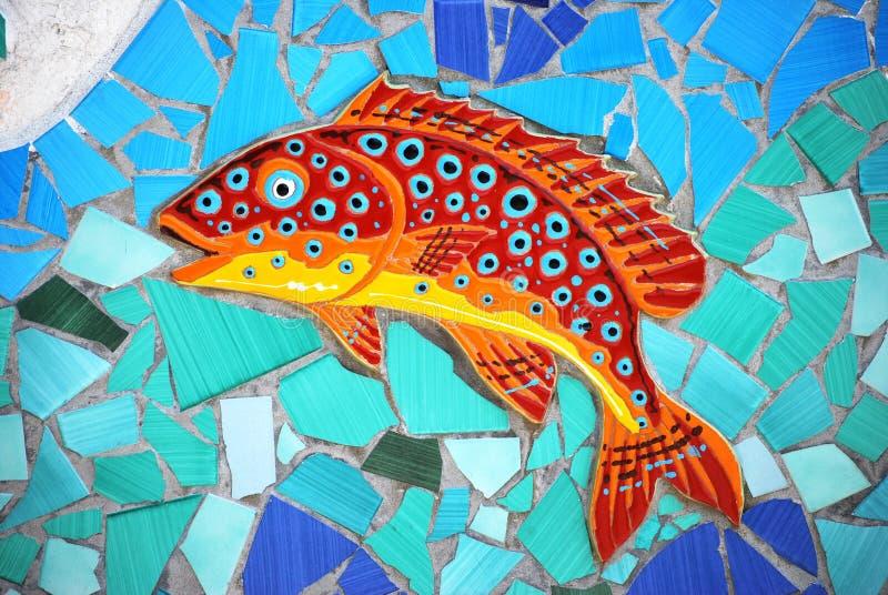 Peixes cerâmicos a costa de Amalfi, Itália imagens de stock