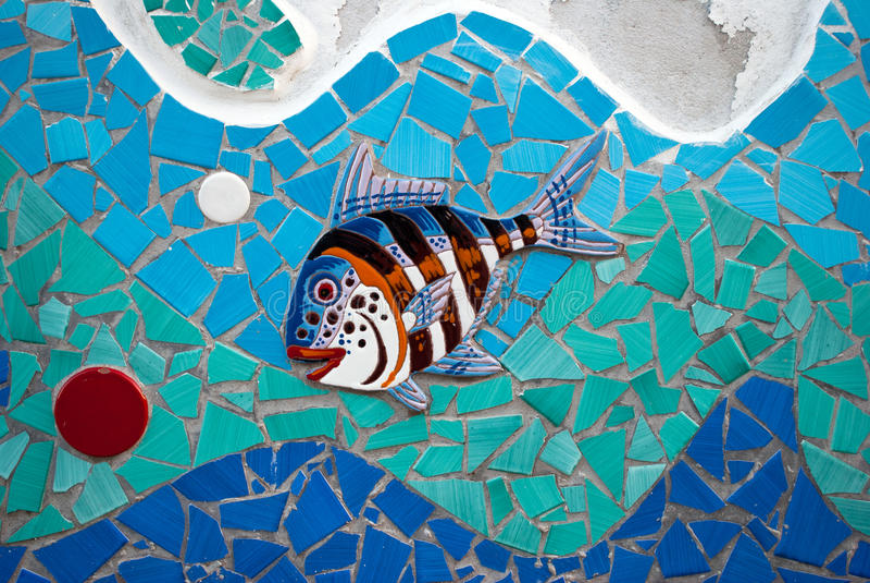 Peixes cerâmicos a costa de Amalfi, Itália fotografia de stock royalty free