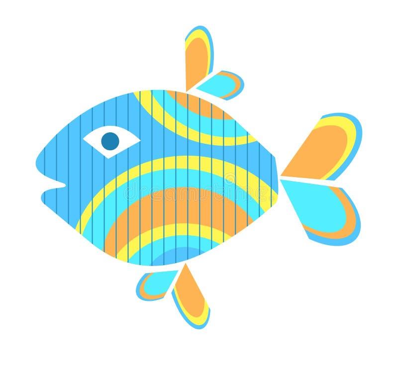 Peixes coloridos ilustração stock