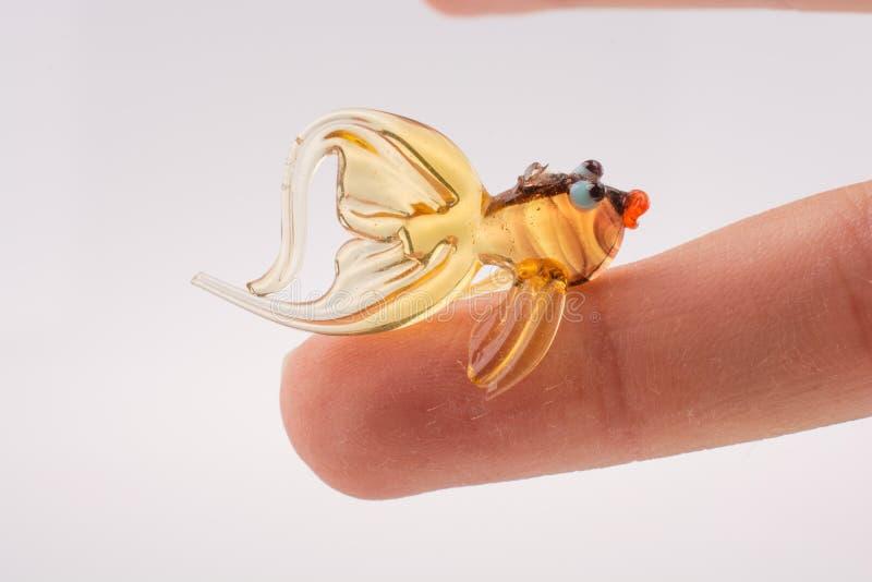 Peixes coloridos bonitos feitos do vidro fotografia de stock royalty free