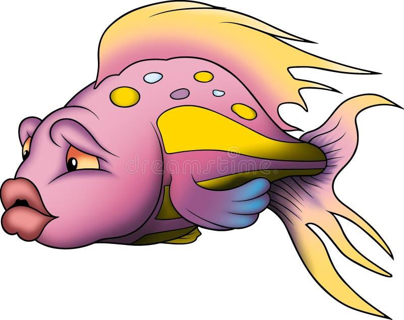 Peixes corais coloridos bonitos. ilustração do vetor