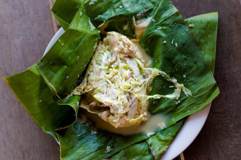 Peixes cozinhados Lao Mok Pa imagens de stock royalty free