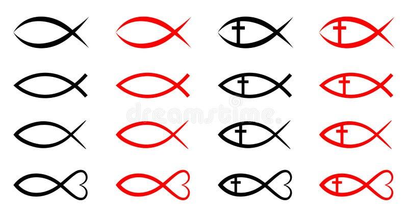 Peixes cristãos ilustração royalty free