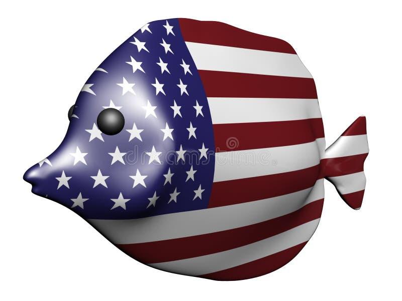 Peixes da bandeira dos EUA ilustração royalty free