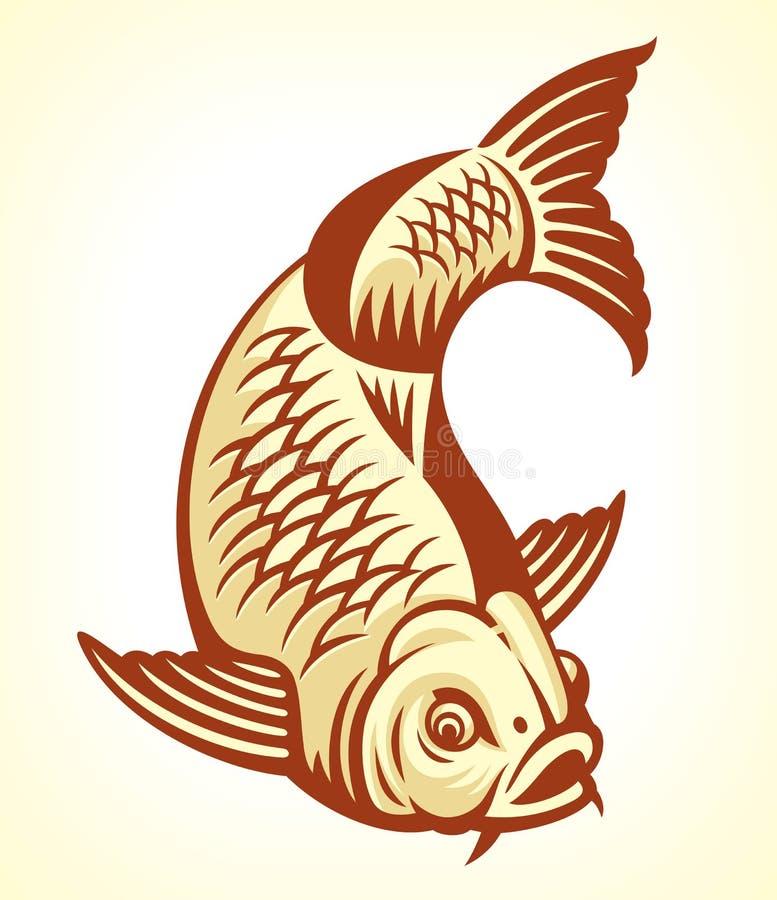 Peixes da carpa ilustração royalty free