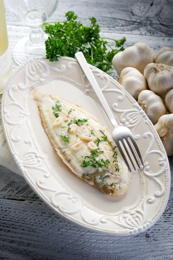 Peixes da sola de Meuniere imagem de stock