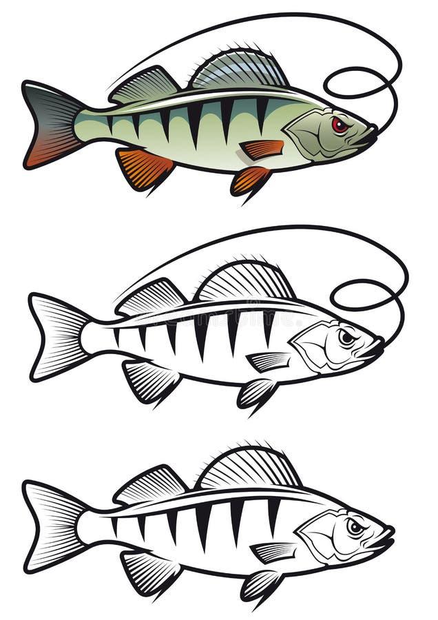 Peixes da vara ilustração do vetor