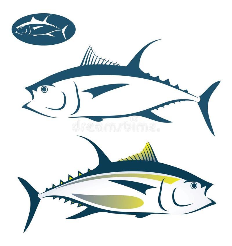 Peixes de atum ilustração royalty free