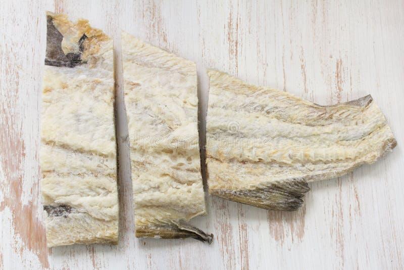 Peixes de bacalhau salgados imagem de stock