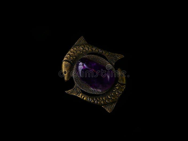 Peixes de bronze do pendente foto de stock royalty free