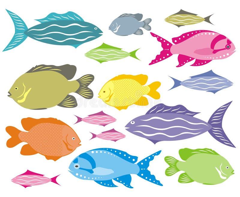 Peixes decorativos ilustração royalty free