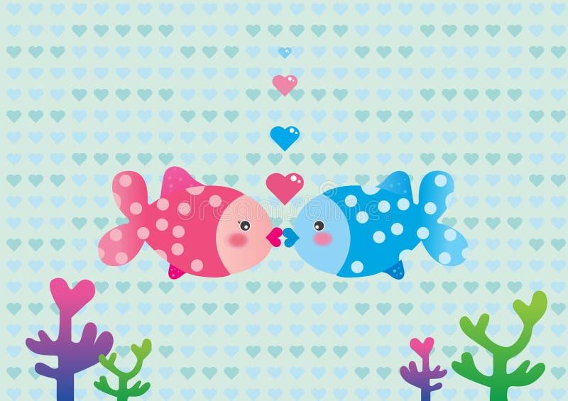Peixes do amor ilustração stock