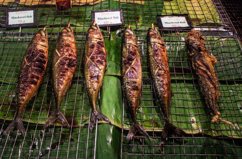 Peixes do BBQ foto de stock