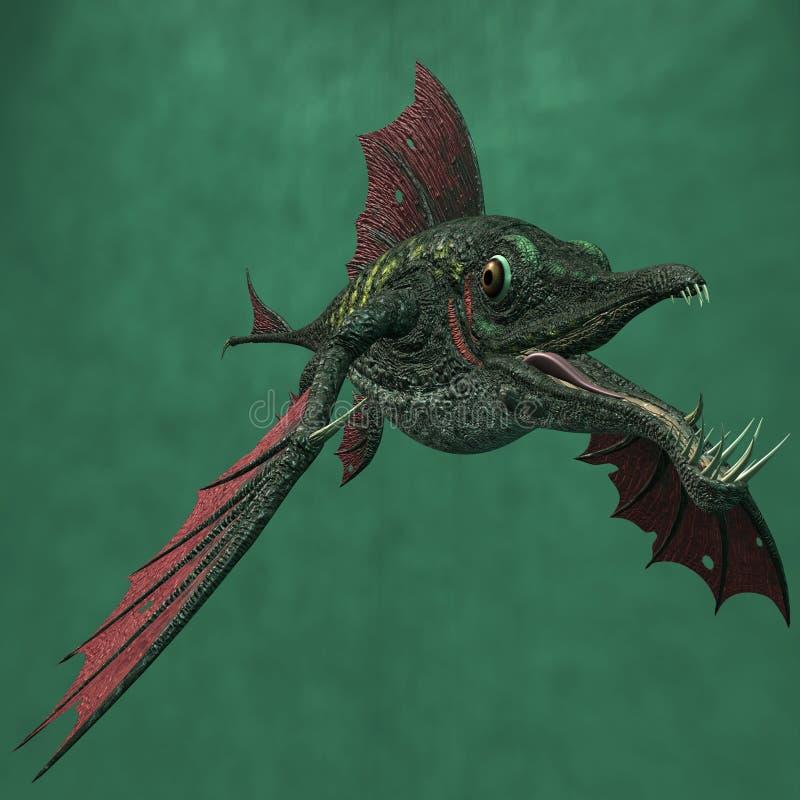 Peixes do dragão da fantasia ilustração do vetor