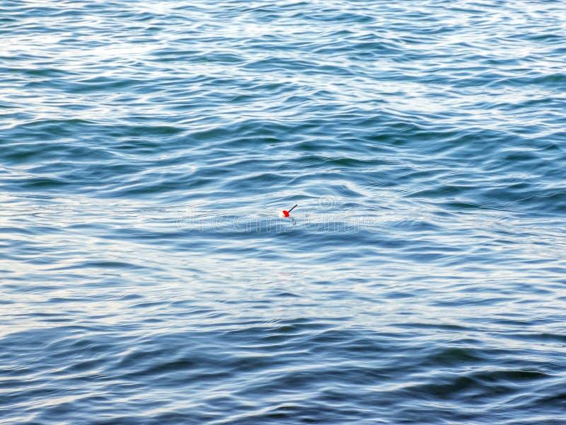 Peixes do pescador cedo na manhã na costa Vara de pesca e gerencio acampar fotos de stock royalty free