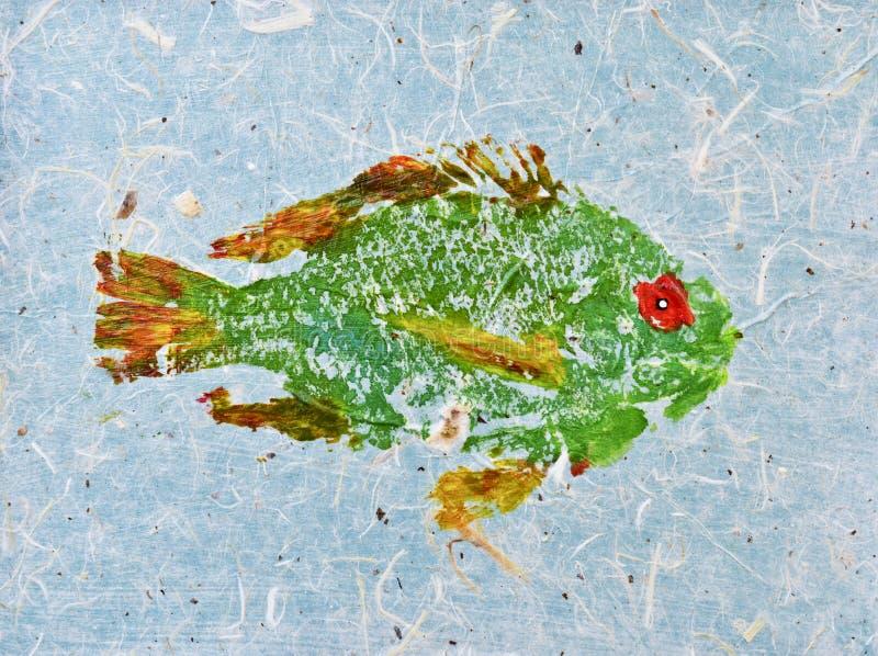Peixes do verde da textura imagem de stock royalty free
