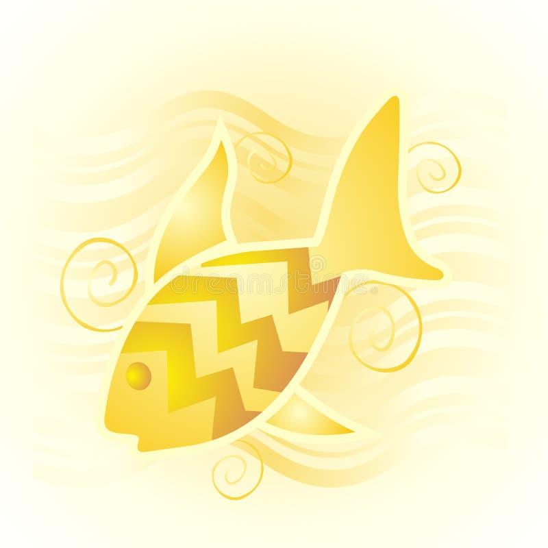 Peixes dourados ilustração royalty free