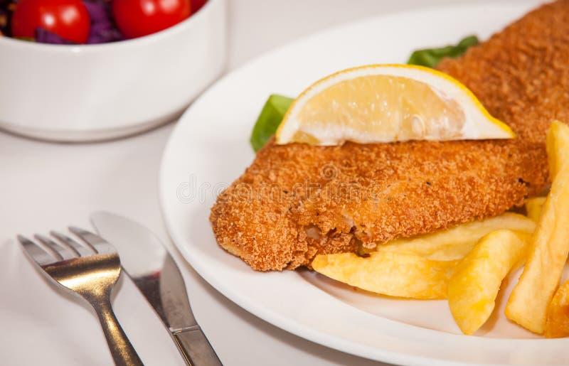 Peixes e Chips Meal fotos de stock